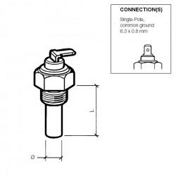 VDO Coolant temperature sender 120°C - 1/4-18 NPTF