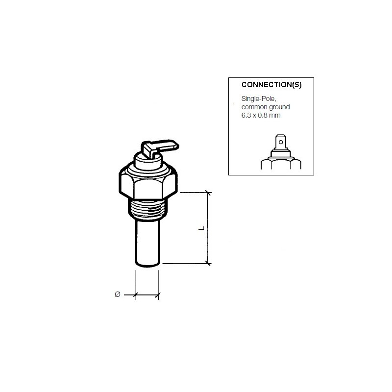VDO Koelwatersensor 120°C - 5/8-18 UNF-2A