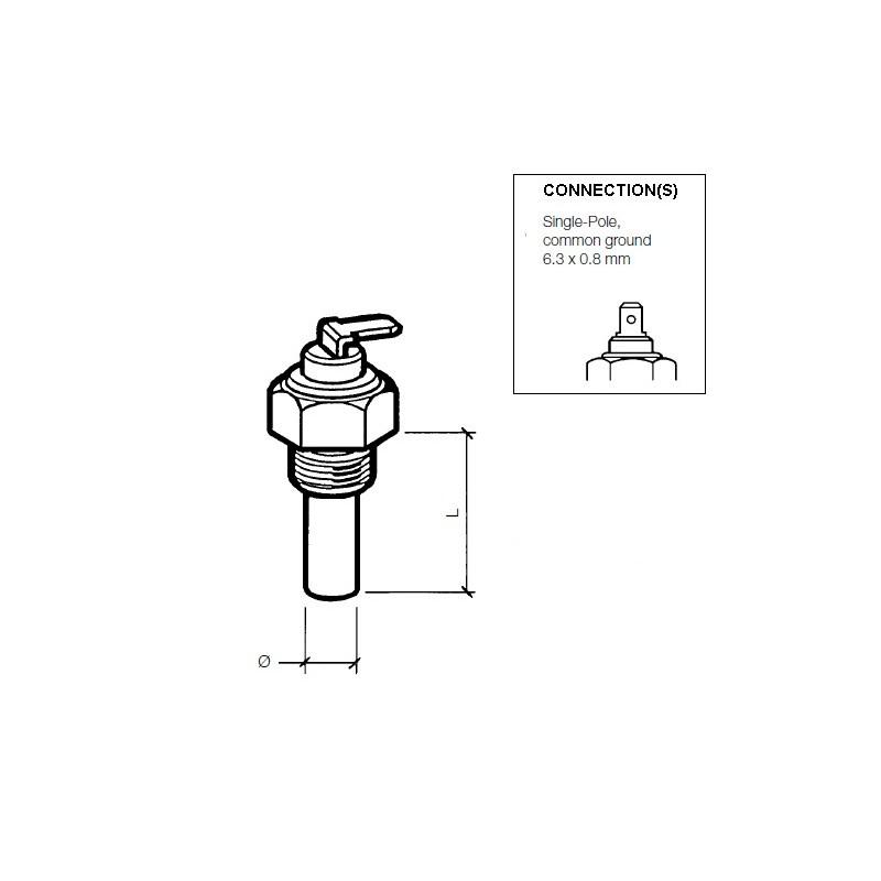 VDO Olie Temperatuursensor 200°C - M14