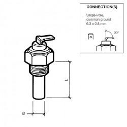 VDO Olie Temperatuursensor 150°C - M16