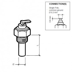 VDO Koelwatersensor 120°C – M10