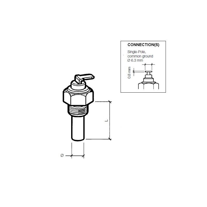 VDO Olie Temperatuursensor 200°C - M10