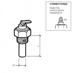 VDO Kühlmitteltemperatursensor 120°C - M14