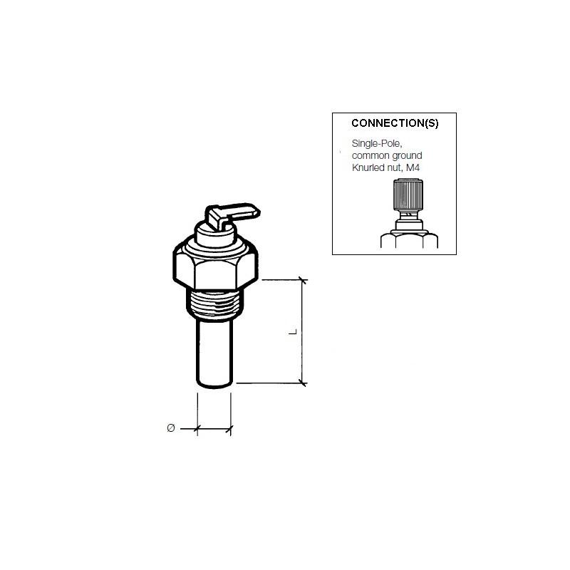 VDO Koelwatersensor 120°C - M16