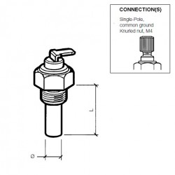 VDO Olie Temperatuursensor 150°C – 5/8-18 NF-3A