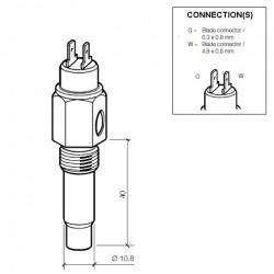 VDO Koelwatersensor 120°C - M14