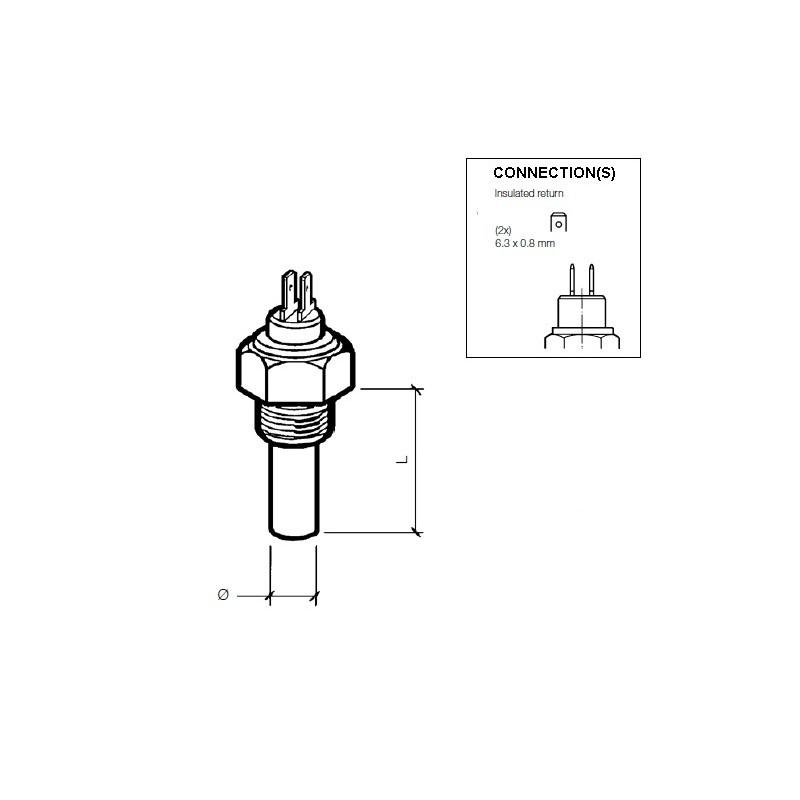 VDO Koelwatersensor 120°C - 1/2-14 NPTF