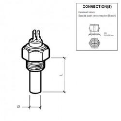 VDO Koelwatersensor 130°C - M14