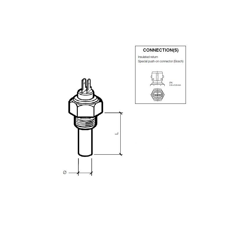VDO Koelwatersensor 140°C - M14