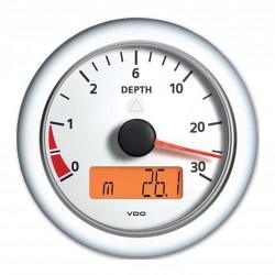 VDO ViewLine Dieptemeter 0-30m Wit 85mm