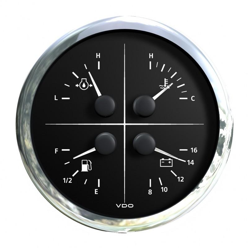 VDO ViewLine Combi 4 in 1 Zwart 110mm