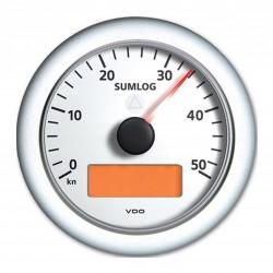 VDO ViewLine Sumlog & Kompas 50kn Wit 85mm