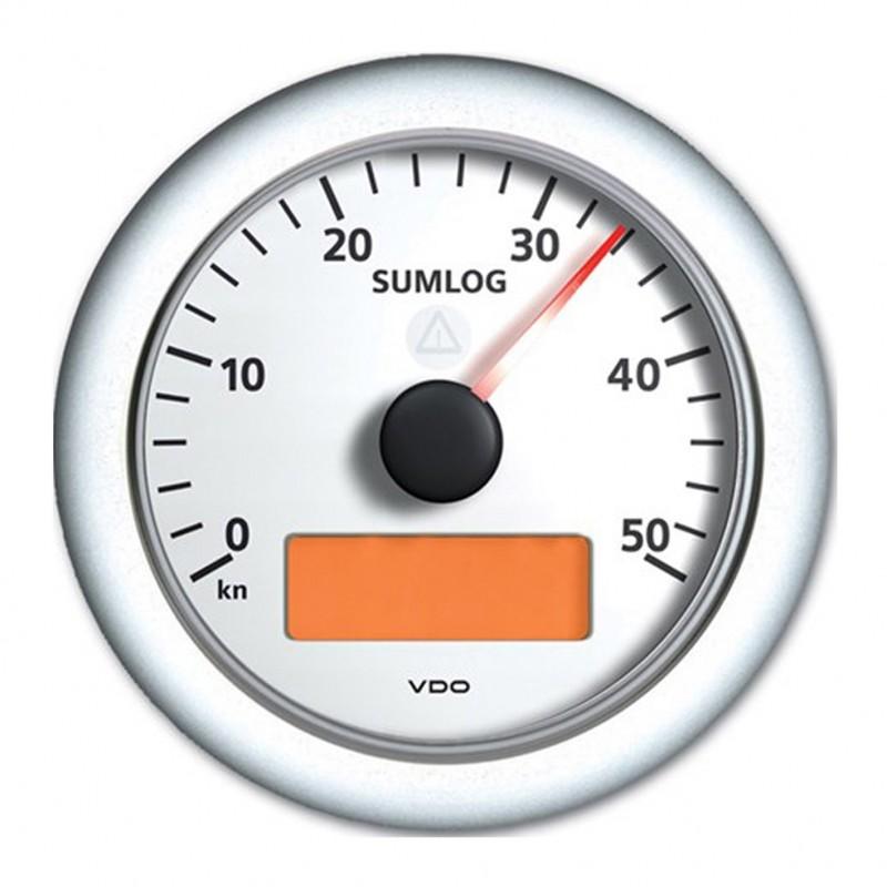 VDO Viewline SumLog Anzeiger 50kn 85mm weiß