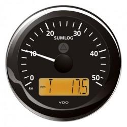 VDO ViewLine Sumlog Snelheid 50kn Zwart 85mm
