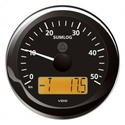 VDO ViewLine Sumlog & compass 50kn Black 85mm