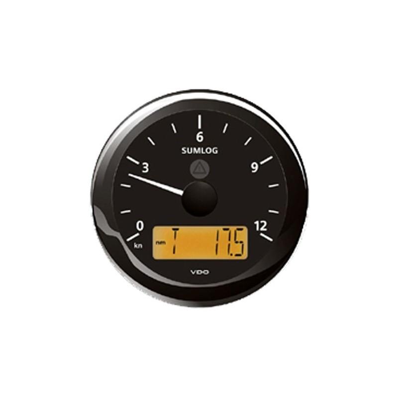 VDO ViewLine Sumlog Snelheid 12kn Zwart 85mm