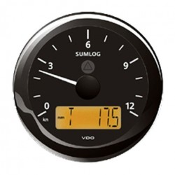 VDO ViewLine Sumlog & compass 12kn Black 85mm