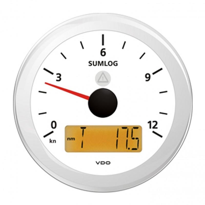 VDO ViewLine Sumlog Snelheid 12kn Wit 85mm