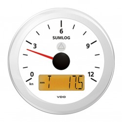 VDO ViewLine Sumlog Speed Kit 12kn White 85mm