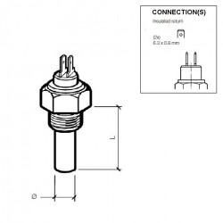 10 Stück VDO Kühlmitteltemperatursensor 120°C - 3/8-18 NPTF